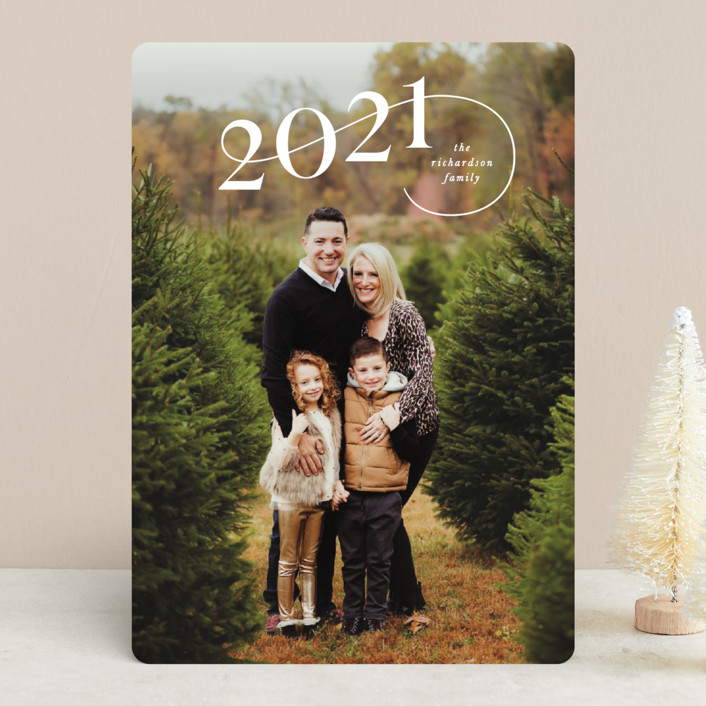 """""""Stairstep"""" - Holiday Photo Cards in Snow by Lauren Chism."""