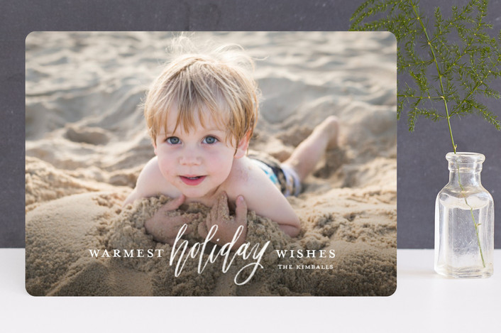 """Wish for Warm Holidays"" - Holiday Photo Cards in Snow by Cheer Up Press."