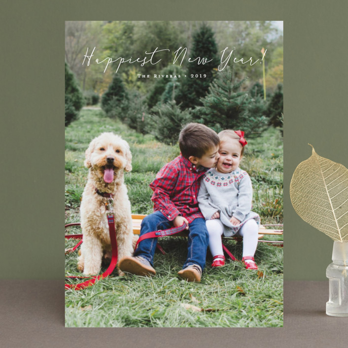 """""""Noted"""" - Holiday Photo Cards in Midnight by Carolyn MacLaren."""