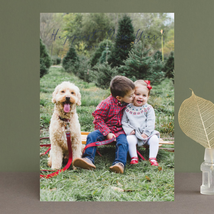 """Noted"" - Holiday Photo Cards in Vanilla by Carolyn MacLaren."