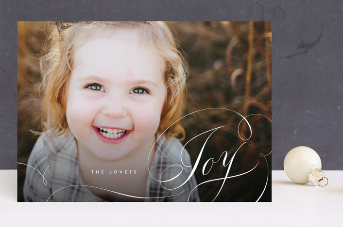 """""""Eclair"""" - Holiday Photo Cards in Winter by kelli hall."""