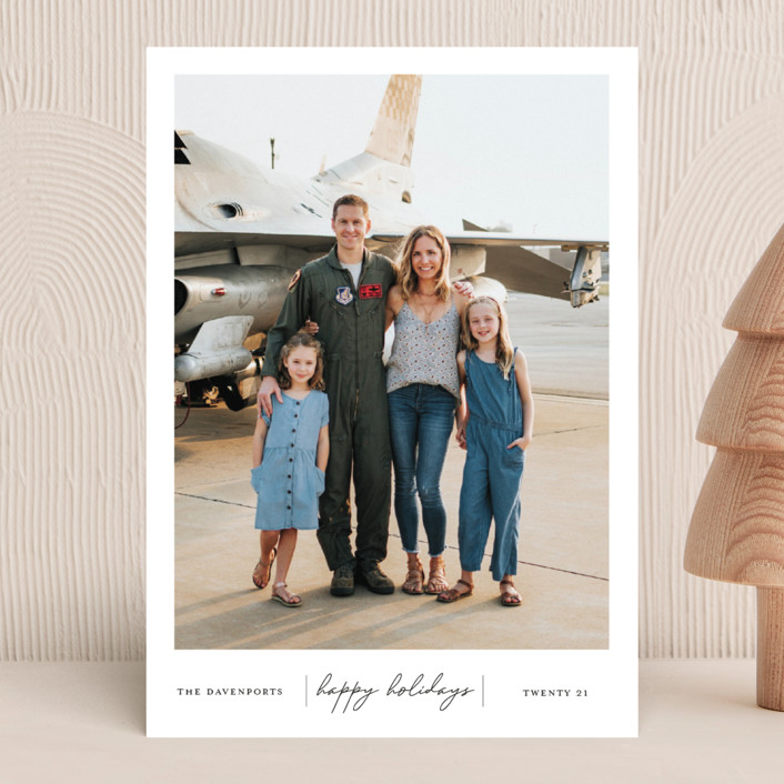 """""""Happiness"""" - Holiday Photo Cards in Onyx by That Girl Press."""