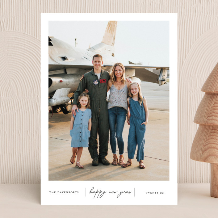 """Happiness"" - Holiday Photo Cards in Onyx by That Girl Press."
