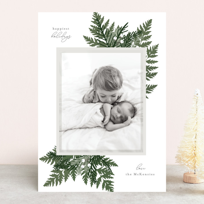 """""""Natures Grace"""" - Holiday Photo Cards in Mist by Bonjour Berry."""