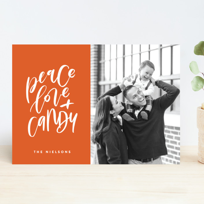 """""""Because Tacos"""" - Funny, Modern Holiday Photo Cards in Pico De Gallo by Erin L. Wilson."""