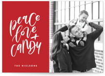 This is a red holiday photo card by Erin L. Wilson called Because Tacos with standard printing on smooth signature in standard.