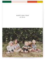 This is a green holiday photo card by Dozi called Color Bar with standard printing on smooth signature in standard.