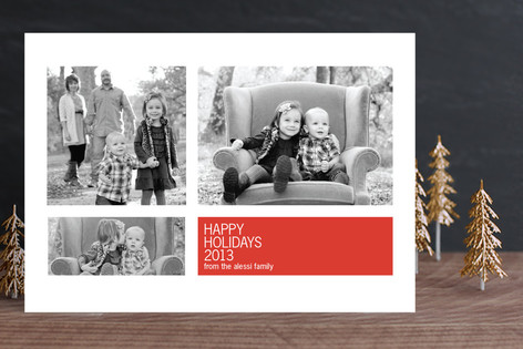 Modern Geometric Group Holiday Photo Cards