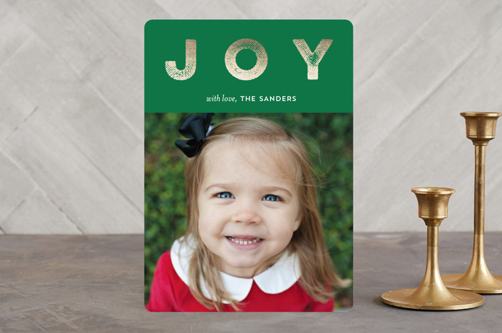 """""""Holiday Headliner"""" - Holiday Photo Cards in Evergreen by pandercraft."""