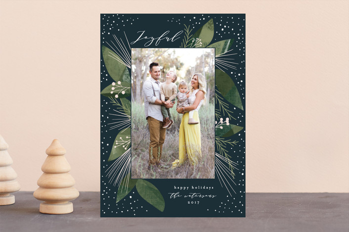"""""""Wintery"""" - Holiday Photo Cards in Deep Frost by Leah Bisch."""