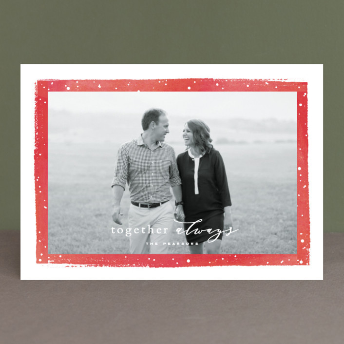 """Together Always"" - Holiday Photo Cards in Cobalt by Hooray Creative."
