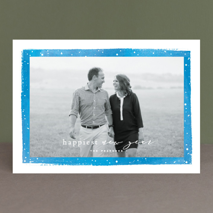 """Together Always"" - Holiday Photo Cards in Berry by Hooray Creative."