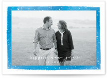 This is a blue holiday photo card by Hooray Creative called Together Always with standard printing on smooth signature in standard.
