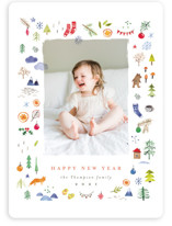 This is a white holiday photo card by Anastasia Makarova called merry little things with standard printing on smooth signature in standard.