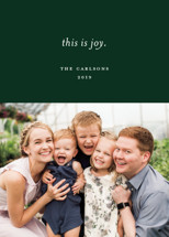 This is Joy Holiday Photo Cards By Sandra Picco Design