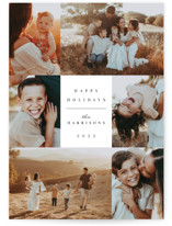 This is a white holiday photo card by Christy Hy Lee called simple line with standard printing on triplethick in standard.