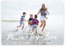 Peace Joy Love Holiday Photo Cards