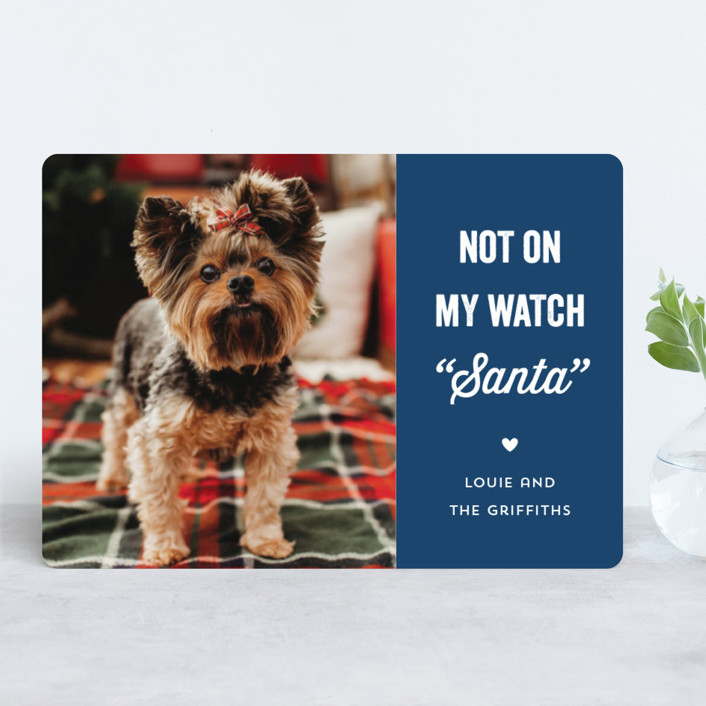 """""""The Fuzz"""" - Funny Holiday Photo Cards in Ruby by Laura Hankins."""