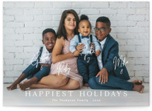 This is a white holiday photo card by Kaydi Bishop called New Card Who Dis with standard printing on smooth signature in standard.