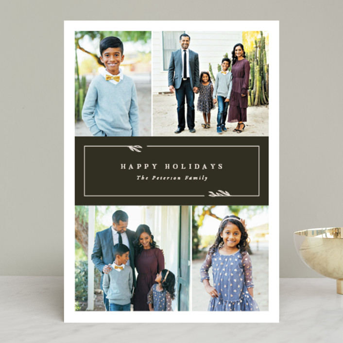 """Kent"" - Holiday Photo Cards in Olive by Robert and Stella."