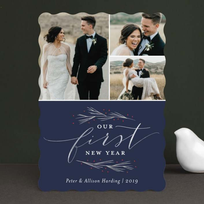 Our First Married Christmas Holiday Photo Cards by Sarah Brown | Minted