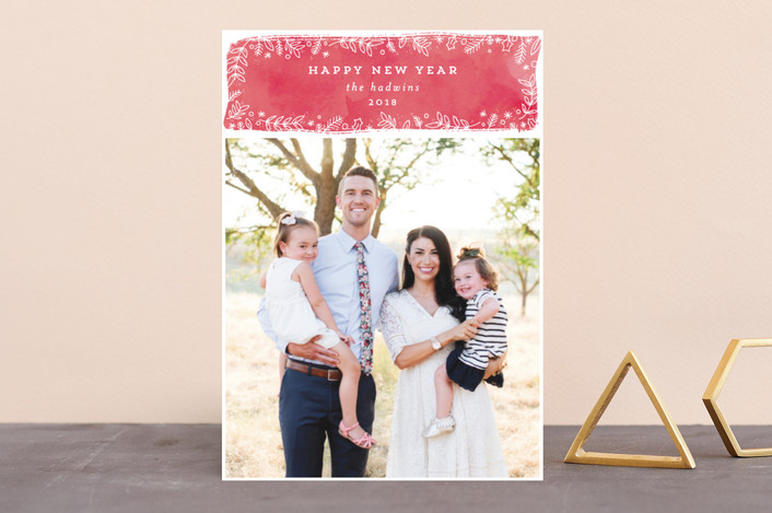 """""""winter berries"""" - Holiday Photo Cards in Petal by Bethan."""