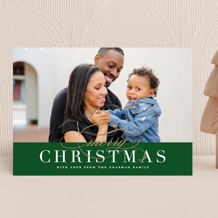 """""""Simple Elegance"""" - Holiday Photo Cards in Forest by Jessica Williams."""