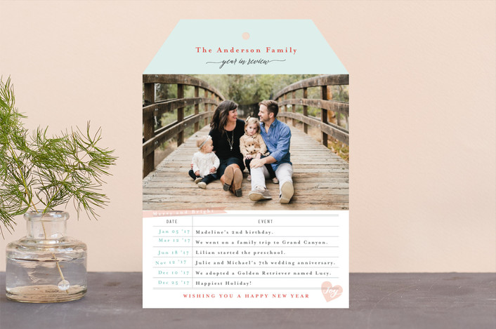 """Photo Library Card"" - Vintage Holiday Photo Cards in Mint by Four Wet Feet Studio."