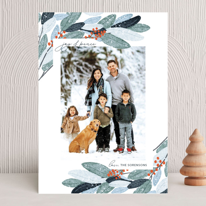"""Wintery Eucalyptus"" - Holiday Photo Cards in Snow by Angel Walker."