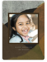 This is a brown holiday photo card by Heather Cairl called Peaks and Valleys with standard printing on smooth signature in standard.