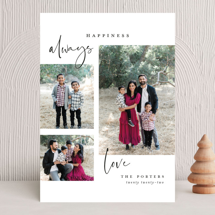 """""""Peace Always"""" - Modern Holiday Photo Cards in Ink by Michelle Taylor."""