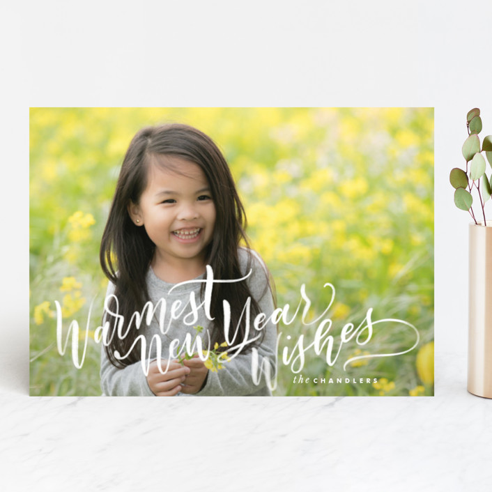 """""""Warmth"""" - Holiday Photo Cards in Snow by Leah Bisch."""