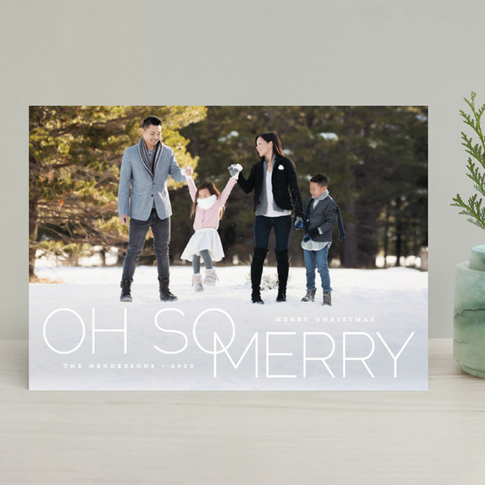 """oh so merry in line"" - Holiday Photo Cards in Holiday by Qing Ji."