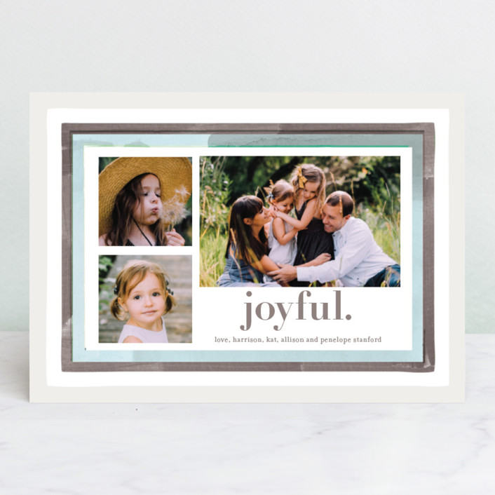 """""""Holiday Watercolor Frames"""" - Holiday Photo Cards in Silver Bell by Baumbirdy."""