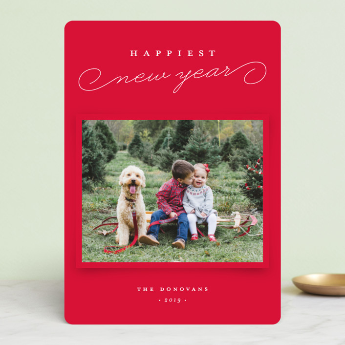 """""""Snapshot"""" - Holiday Photo Cards in Candy Cane by Stacey Meacham."""