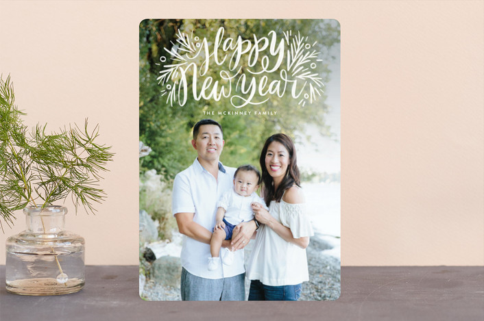 """""""Painted Message Pine"""" - Holiday Photo Cards in Snow by Alethea and Ruth."""