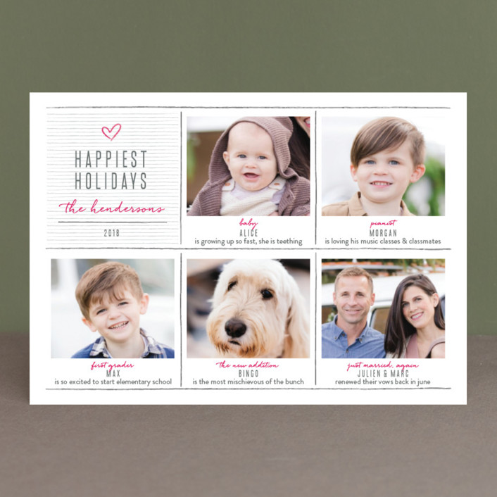 """""""pencil it out"""" - Holiday Photo Cards in Berry by Aspacia Kusulas."""