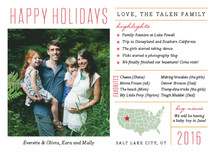Fun Facts Holiday Photo Cards By Jill Means
