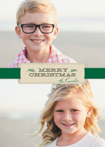 Christmas Ribbon Holiday Photo Cards By Ann Gardner