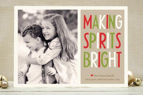 Making Spirits Bright Holiday Photo Cards