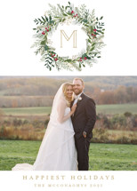 Greenery Wreath Holiday Photo Cards By Susan Moyal