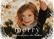 Lovely Wreath Holiday Photo Cards By Melanie Severin