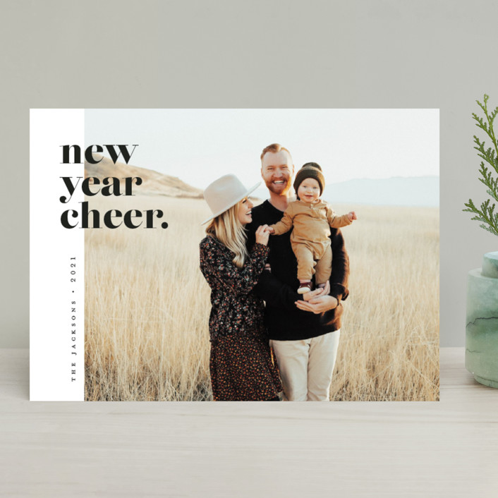 """""""the edit"""" - Holiday Photo Cards in Polar Bear by Pink House Press."""