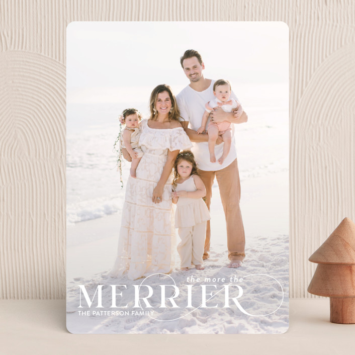 """""""More and Merrier"""" - Holiday Photo Cards in Snow by Yaling Hou Suzuki."""