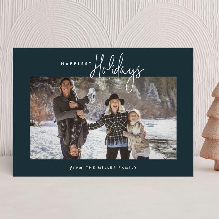 """keepin it fun"" - Holiday Photo Cards in Night Sky by Carolyn Nicks."