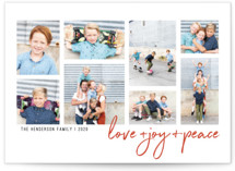 Love + Joy + Peace Holiday Photo Cards By Elena Wilken