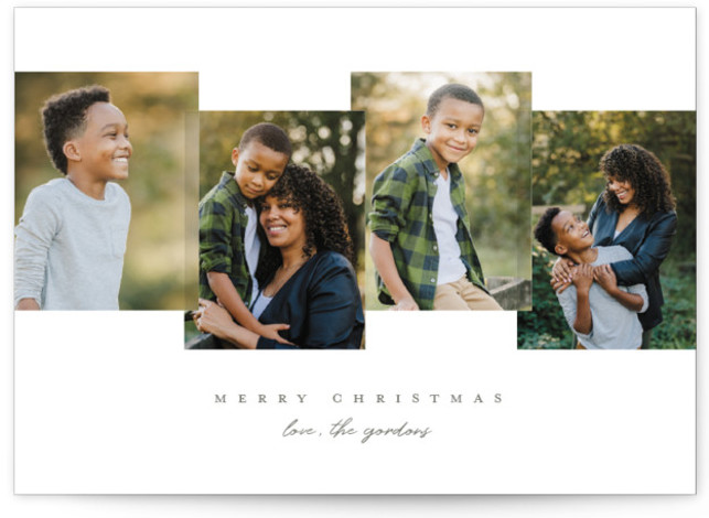 Overlapping Holiday Photo Cards