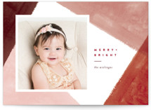 This is a red holiday photo card by Pixel and Hank called All Corners with standard printing on smooth signature in standard.