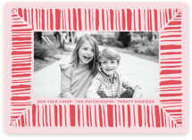 This is a red holiday photo card by Lagniappe Paper called Peppermint Cheer with standard printing on smooth signature in standard.