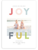 This is a grey holiday photo card by Lisa Cersovsky called Joyfully Transparent with standard printing on smooth signature in standard.
